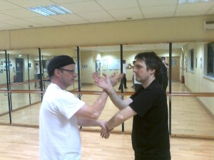 Training 'Chi Sau' at Bradford Kung Fu school